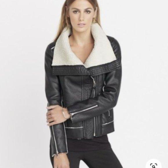 Dynamite Sherpa Moto Jacket Size Medium